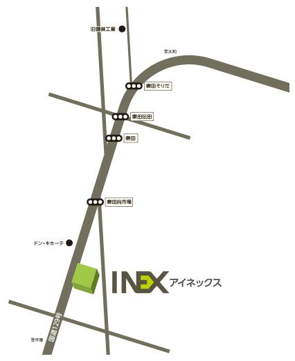 本社所在地地図